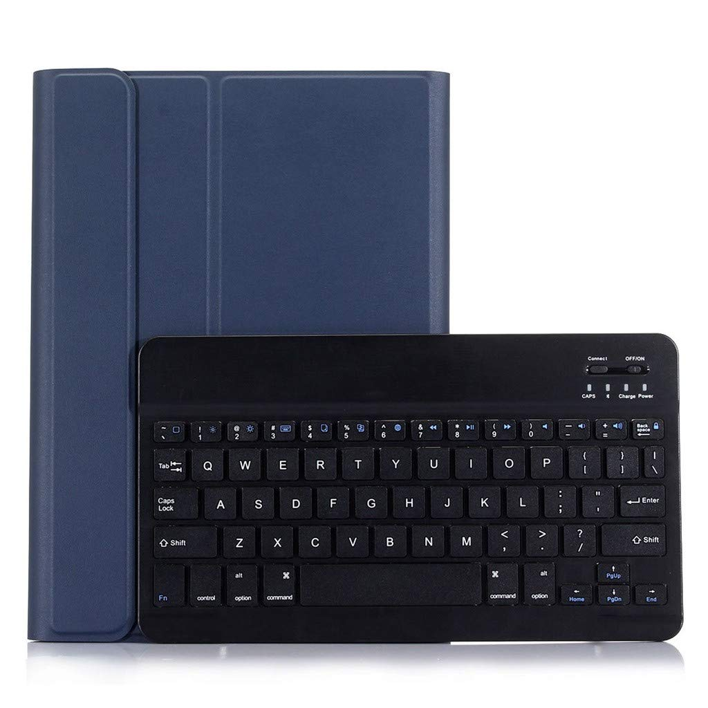 Sonmer Ultra-Thin Wireless Bluetooth Keyboard For Ipad Air/Air2/Pro 9.7, With Detachable Leather Case (Dark Blue)
