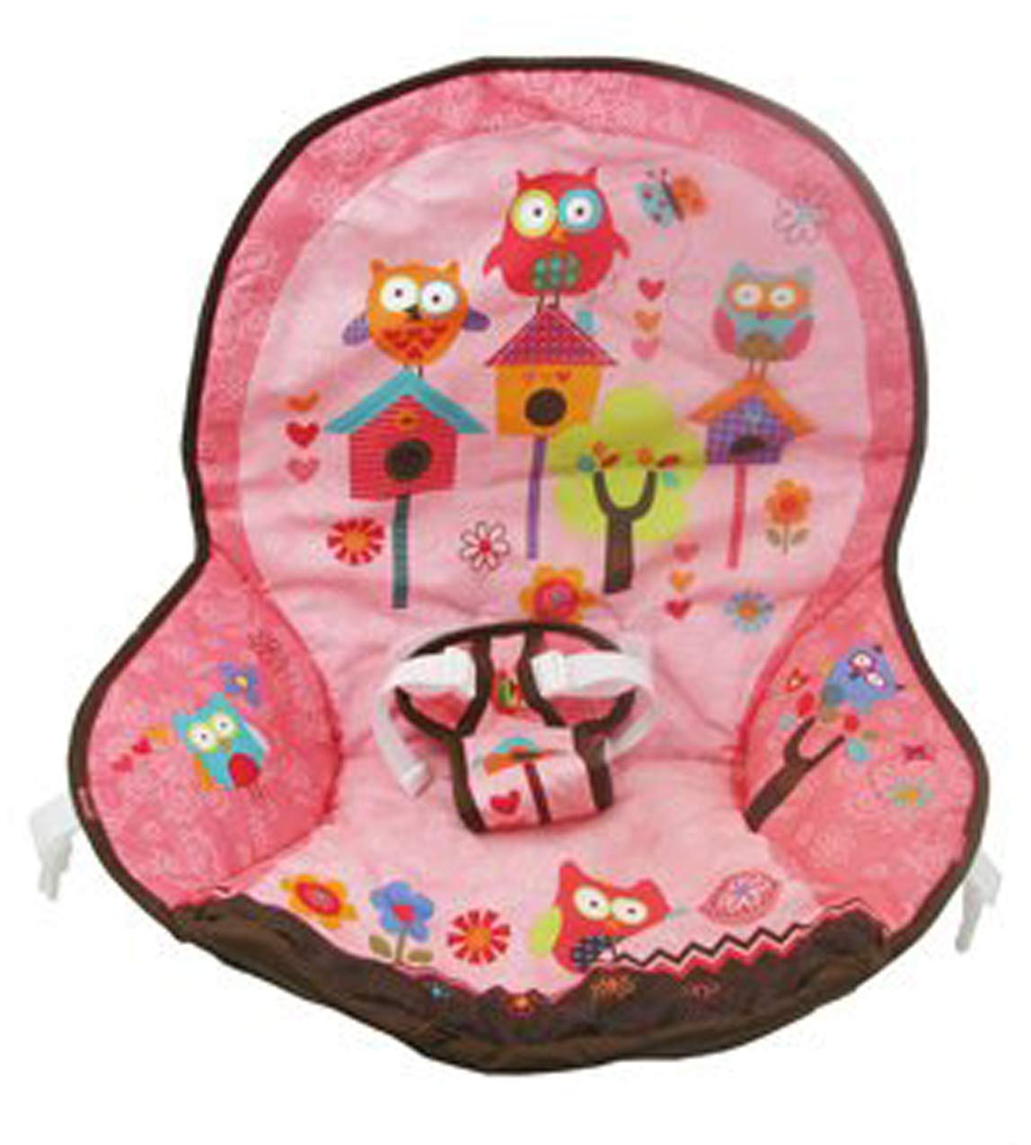 Fisher Price Infant to Toddler Rocker Replacement Pad (X7032 PINK OWL PAD) by Fisher-Price