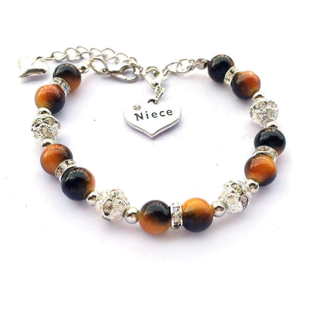 DOLON Crystal Beaded Faux Pearl Bracelet Jewelry Gift for Niece-3 Color