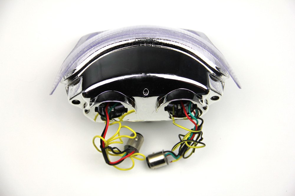 Fanale posteriore indicatori di direzione integrato per Triumph T595 Speed Triple 995 1997 2004 Fum/è Chiaro