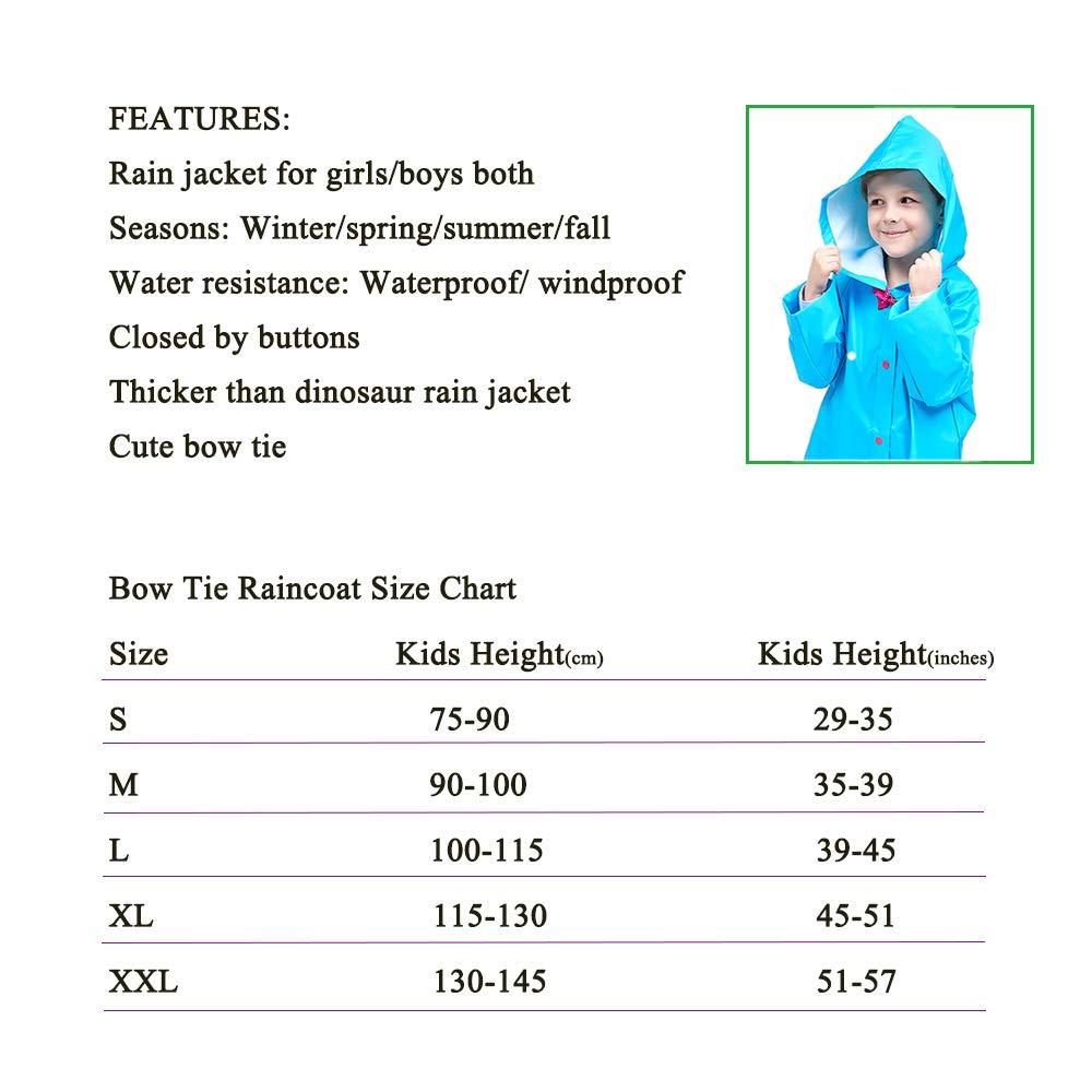 Mini Balabala Kids Rain Jacket Age 2-10 Dinosaur Shaped Lightweight Rainwear for Boy for Girl