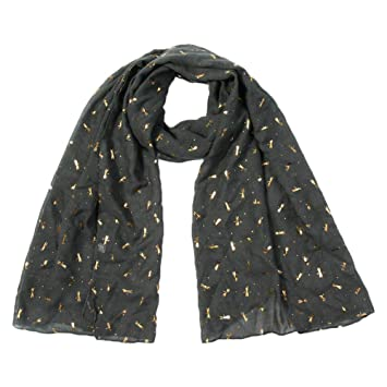 MoGist - Pañuelo de verano para mujer, diseño de libélulas pequeñas, estampado en caliente