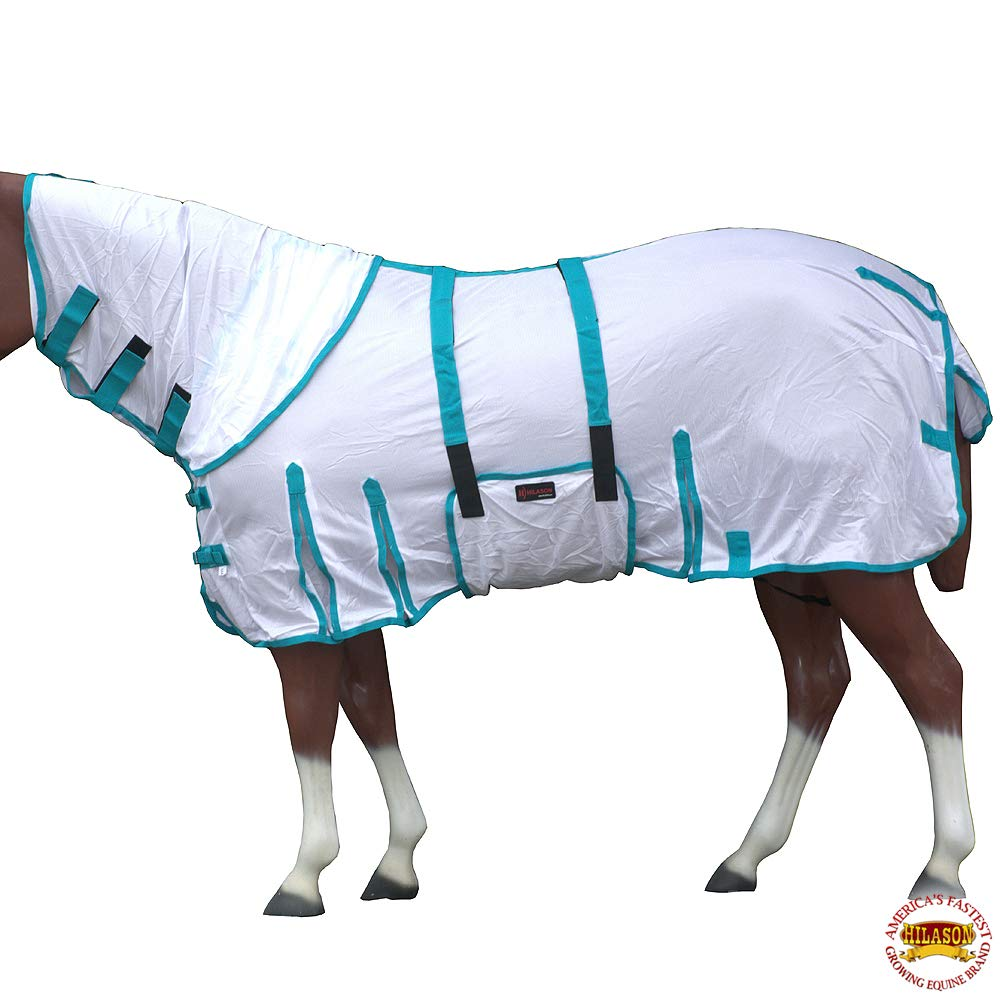 HILASON 69'' Uv Protect Mesh Bug Mosquito Horse Fly Sheet Summer by HILASON