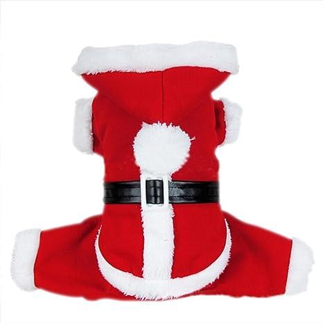 Amazon.com: Dogloveit - Disfraz de Papá Noel para perro ...