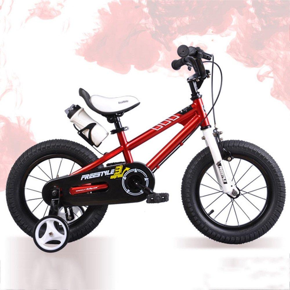 HAIZHEN マウンテンバイク ロイヤルベビーフリースタイルスペースキッズバイヘビーデューティスタビライザー+ベル+ウォーターボトルとホルダー 新生児 B07C6Q9N5R 18Inch|赤 赤 18Inch