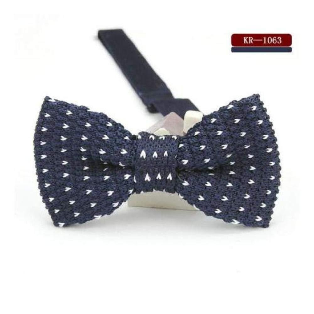 FidgetGear Vintage Mens Knit Bow Tie Adjustable Knitted Bowtie Knitting Striped Butterfly