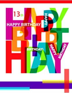 Happy 13th Birthday Notebook Journal Diary 105 Lined Pages Gifts