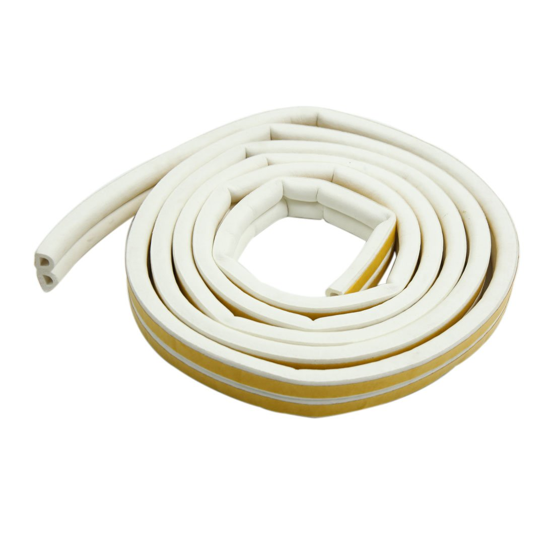 uxcell Self Adhesive 2m D-shape Car Door Window Trim Weatherstrip Seal Strip for VW