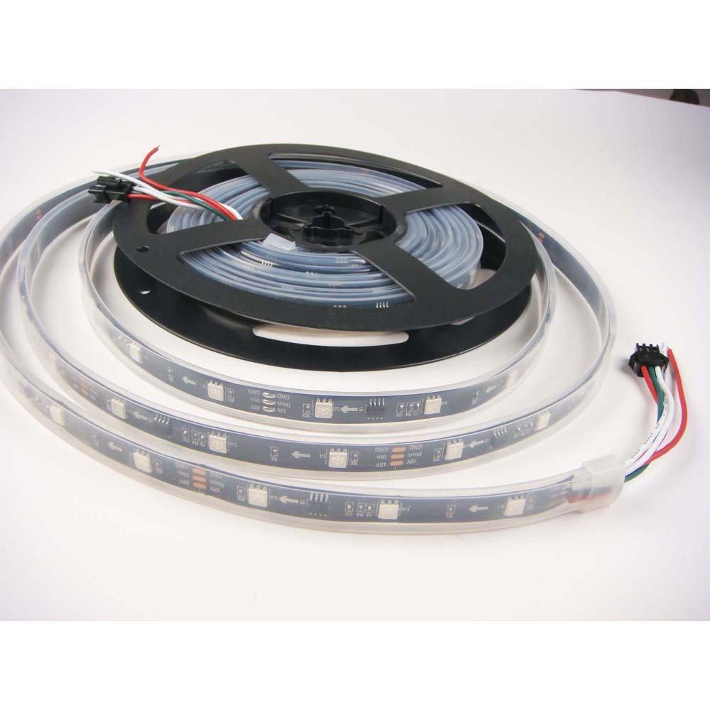 LED世界16.4 Ft 5 M ws2811 5050 RGB夢色150個30pixels LED柔軟なストリップライトip67防水12 V、ブラックPCB B01LYHB1KR 18408