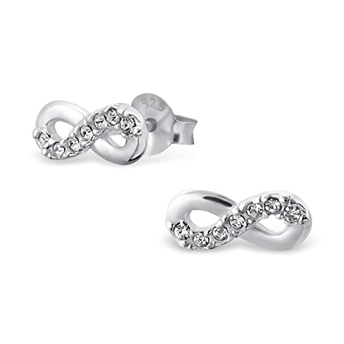 890a0b3f5 ... cheap si si select quality 925 sterling silver infinity loop stud  earrings w cubic 1b361 21947 reduced pandora earrings ...
