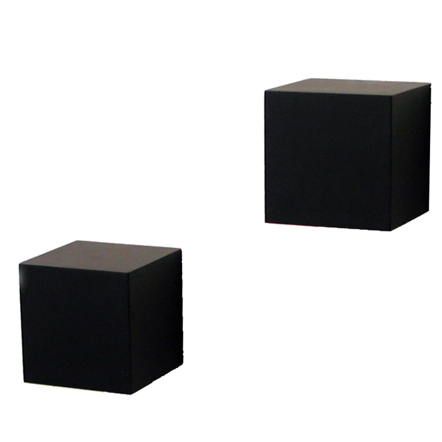 Amazon shelf made decorative wall cubes pair 5 inch x 5 amazon shelf made decorative wall cubes pair 5 inch x 5 inch black knape vogt mfg home kitchen amipublicfo Image collections