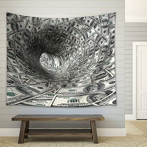 Dollars Funnel Fabric Wall