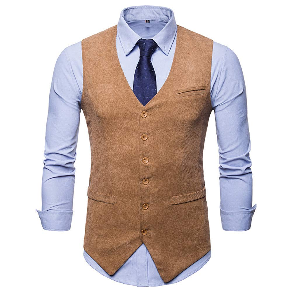 Waistcoat Vest for Men, iOPQO Business Tank Tops Tuxedo Jacket Blazer suit coat