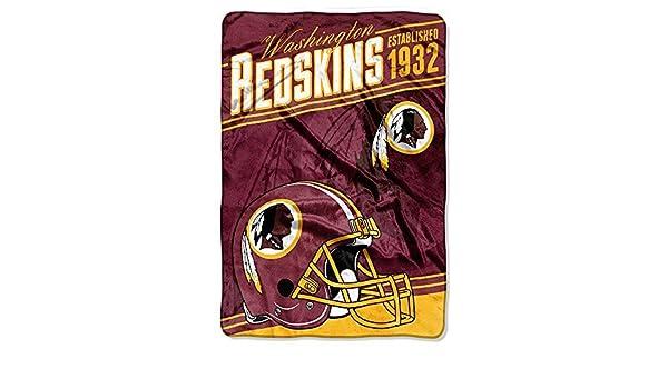 The NorthWest Co Washington Redskins Football Established 40 Cool Redskins Throw Blanket