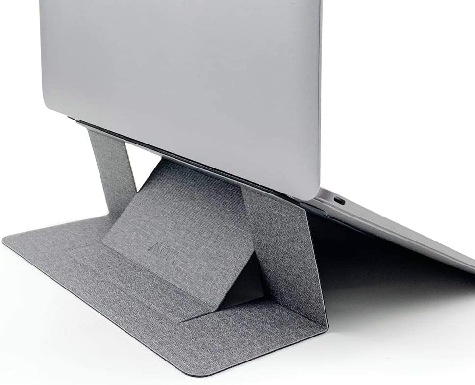 "MOFT Invisible Slim Laptop Stand, Adhesive and Reusable, Adjustable Perfect Viewing Angles, Compatible with Laptops Up to 15.6"", Jean Grey"