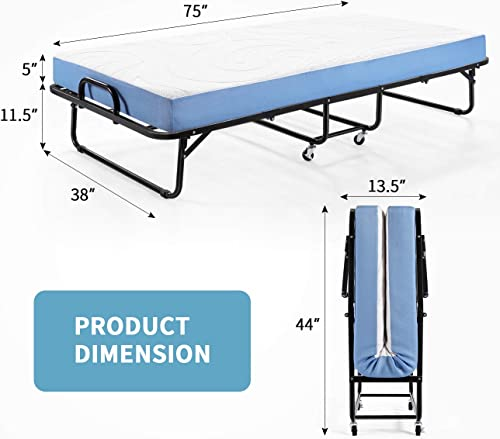 Foldable Roll Away Guest Bed