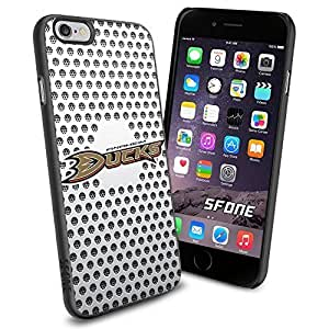 Anaheim Ducks White Net WADE2174 Hockey iphone 4 4s inch Case Protection Black Rubber Cover Protector