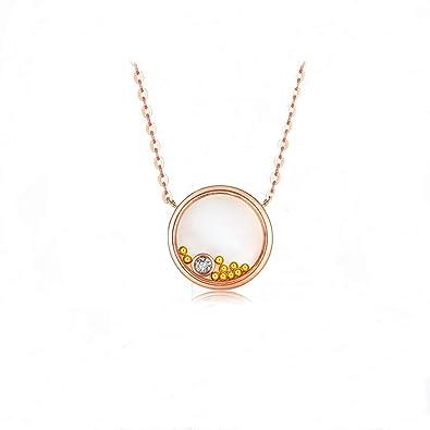 7d19fbef26c7 Blisfille Gargantilla Oro Mujer 18K Colgante Corazon Morado Colgante Oro  Inicial Collares Mujer Joven Baratos Collares de Mujer de Oro Collar  Colgante Oso  ...