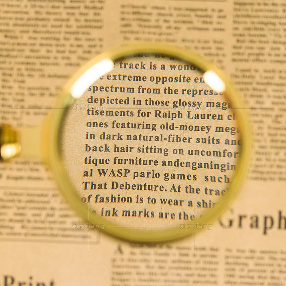 Robluee Dimagrante in Legno Lente dIngrandimento 10x in Vetro per Lettura Stile Vintage ispezione Portatile esplorazione