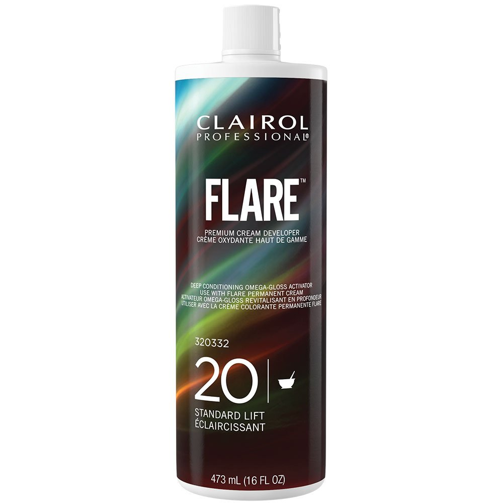 Clairol Professional Flare Creme 20 Volume Developer, 16 Ounce