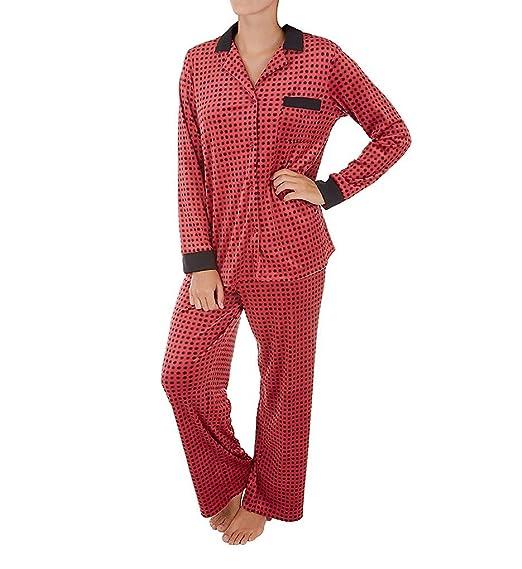 DKNY Women s A Notch Above Long Pajama Set at Amazon Women s Clothing store  ccb0b180f