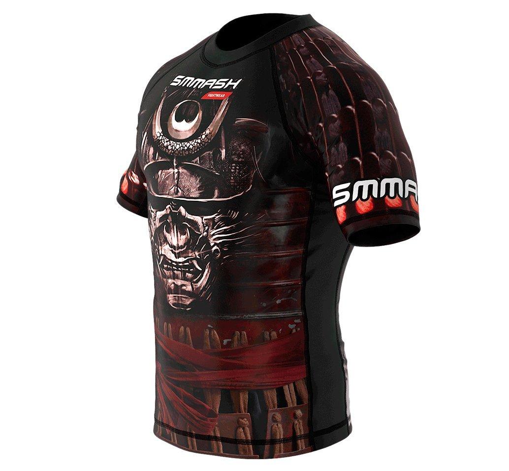 SMMASH Rashguard SAMURAI Manche Courte MMA BJJ UFC K1