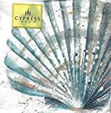 Cypress Home Cocktail Napkins - Scallop Shell 40 Count