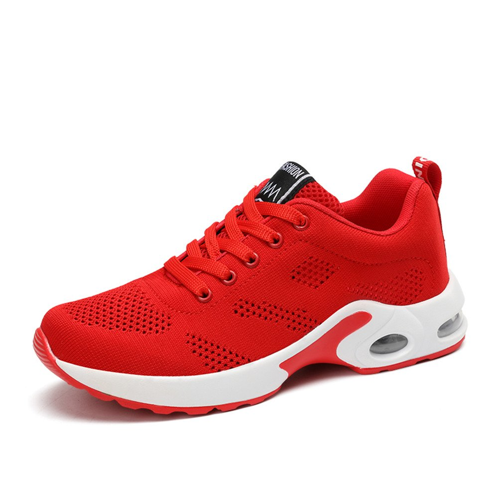 Amazon.com | Sneakers Athletic Shoes Women Air Cushion Breathable Walking Shoes Red Black Pink Purple 35-40 | Running