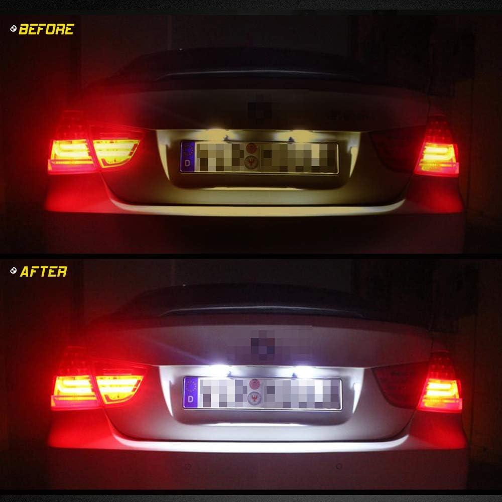 2 St/ücke LED Kennzeichenbeleuchtung Nummernschilder R/ück Lampe f/ür J-aguar XJ XF Fiesta F-ocus S-MAX Grand C-max M-ondeo K-uga Galaxy 6000k Wei/ß