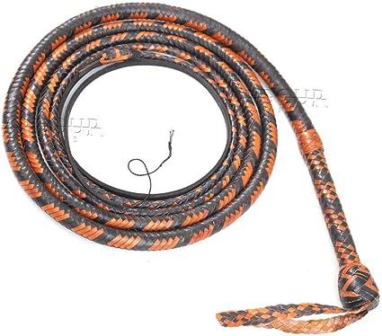 10 Feet Long 12 Plait Genuine Kangaroo Leather Heavy Duty Bullwhip Custom whip
