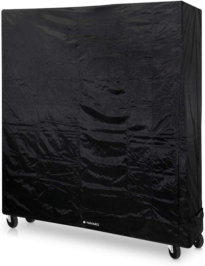 Navaris Funda para Mesa de Ping Pong Ajustable- Cubierta Protectora para Exterior con cordón - Cubierta para Tablero de Tenis de Mesa - 185x70×165CM