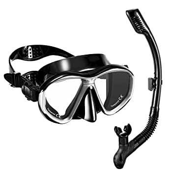 OMORC Anti-Fog Snorkel Mask Set