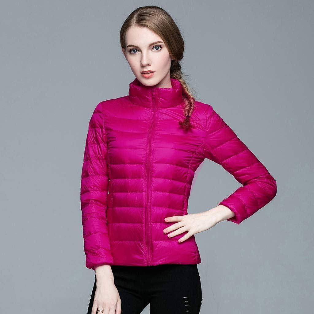 Fashion Womens Lightweight Down Jacket Winter Coats Slim Long Sleeve Overcoat