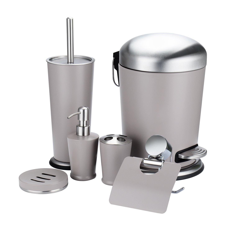 Amazon.com: 6-Piece Bathroom Accessory Set, Stainless Steel Bath ...