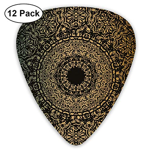 Celluloid Guitar Picks - 12 Pack,Abstract Art Colorful