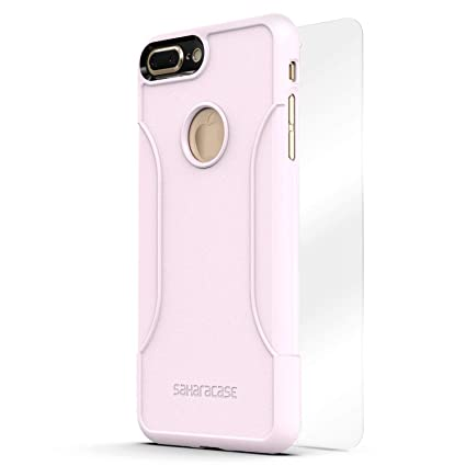 finest selection d7b69 16eab iPhone 8 Plus and 7 Plus Case, SaharaCase Protective Kit Bundled with  [ZeroDamage Tempered Glass Screen Protector] Rugged Slim Fit Shockproof  Bumper ...
