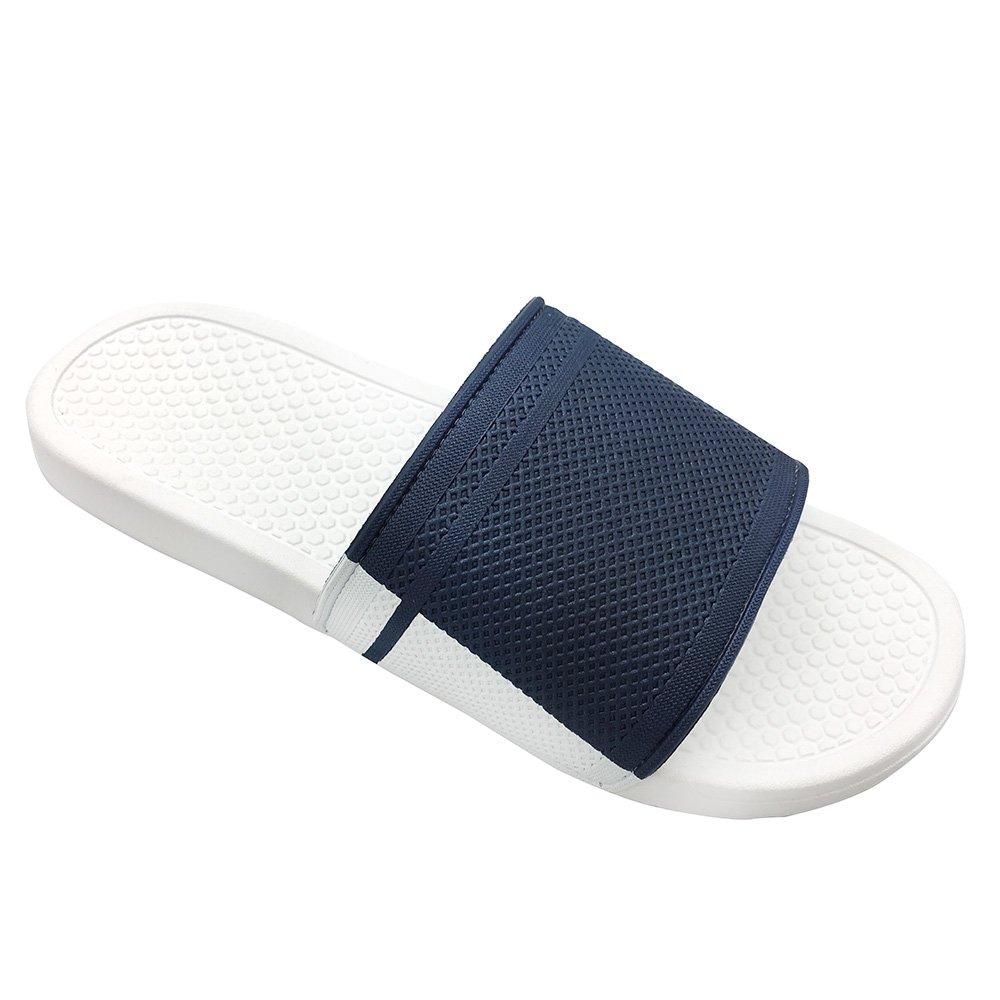 Funkymonkey Men's Comfort Slide Sandals Summer Slippers for Men