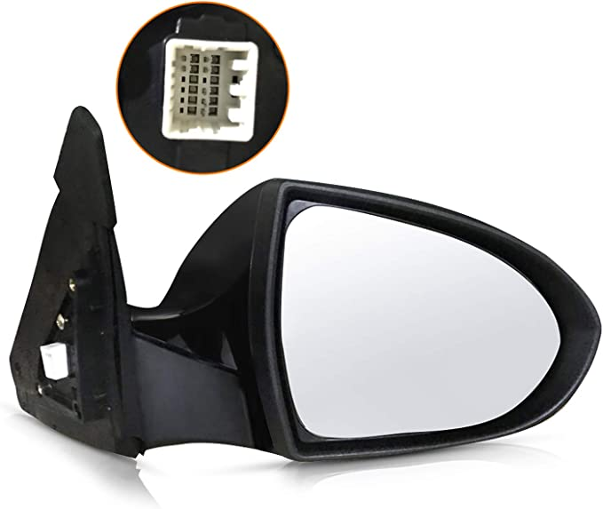 ECCPP Driver Side Mirror Left Side Rear View Mirrors Power Adjustment Power Folding Turn Signal Door Mirror Replacement fit for 2011 2012 2013 2014 2015 2016 Kia Sportage