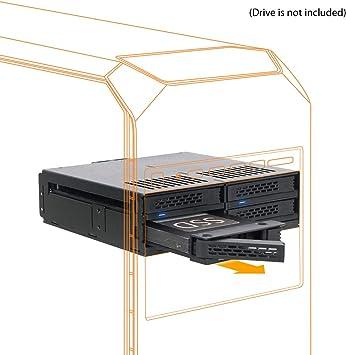 Icy Dock ExpressCage MB324SP-B - Rack extraíble 4 x 2.5 SATA 6Gbps ...
