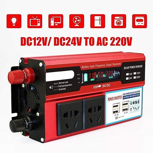 Inversor de Corriente 500W DC 12V a 220V Transformador de CA ...