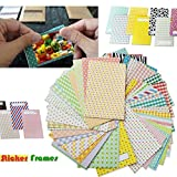 Xtech 60 Assorted Colorful Sticker Frames for Fuji Fujifilm Instax Film and for Fuji Fujifilm Instax Mini 8, Instax Mini 8+, Instax Mini 7, Instax Mini 90 and all Fuji Fujifilm Mini Instax Cameras