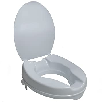 2 inch toilet seat. PCP Molded Toilet Seat Riser with Lid  White 2 Inch Amazon com