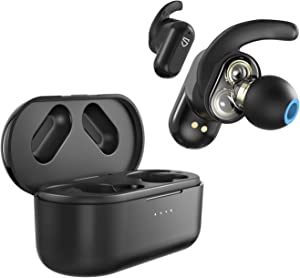SOUNDPEATS Truengine 2 True Wireless Earbuds Dual Dynamic Drivers V5.0 Hi-Fi Bluetooth Headphones with Crossover Bluetooth Earphones for Sports, Ear Fins, Touch Control, CVC Noise Cancellation