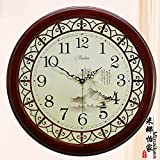 AYYA Living room quartz clock Chinese hanging table antique large clock mute wall clock modern garden living room mute fashion F945 large