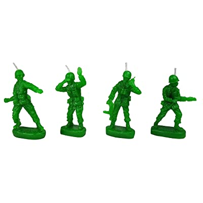 Retro Toy Soldiers 'Army Men' Military Birthday Candles (set of 4) - by NuOp Design: Toys & Games