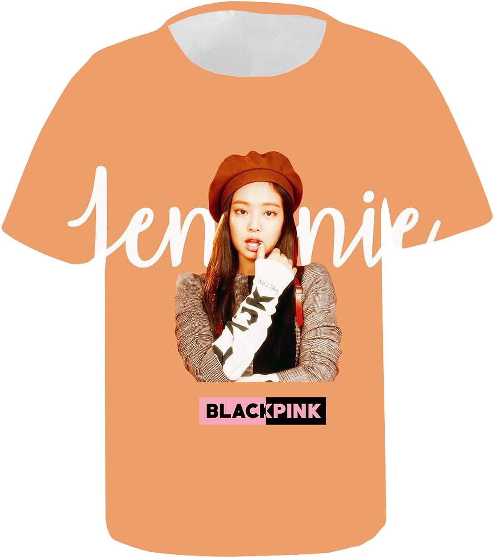DHSPKN Blackpink in Your Area 3D T-Shirt Lisa Jisoo Jennie Rose Versions Tee