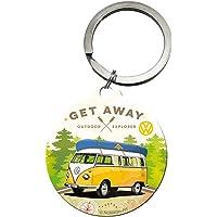 Nostalgic-Art 48027 - Volkswagen - VW - Let's Get Away , sleutelhanger, metalen sleutelhanger, rond, 4 cm