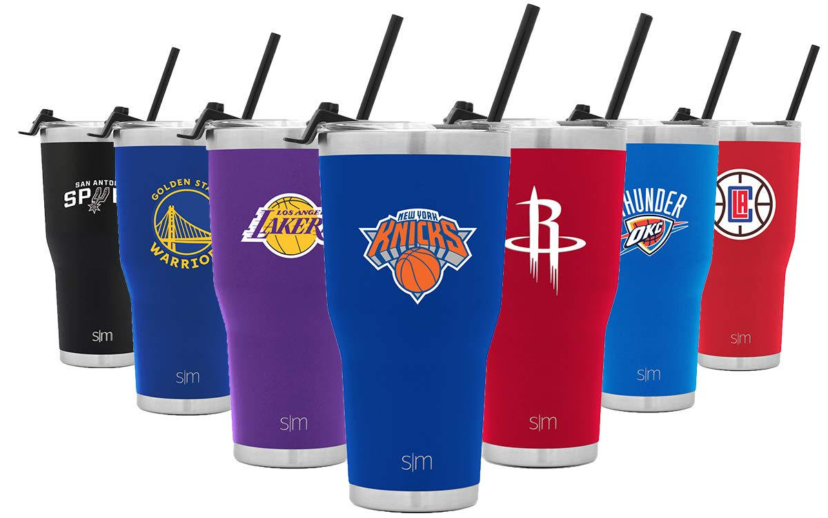 Simple Modern New York Knicks 30oz Cruiser Tumbler with Straw - NBA - 18/8 Stainless Steel Vacuum Insulated Travel Mug by Simple Modern