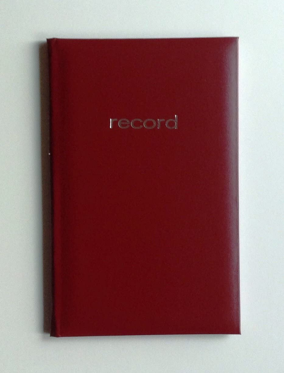 64516 2 Mead Record Books colors can vary 160 pages 2 Books 9-9//16 x 6-1//8 inches