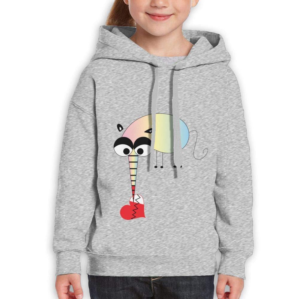 Biting A Heart of Mosquitoes Childrens Hoodie Print Long Sleeve Sweatshirt Girl